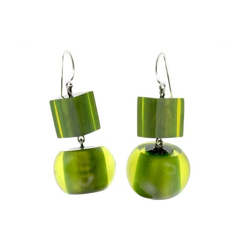 Zsiska Colorful Beads Earrings steker (groen)