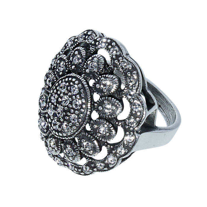 Ring Art Nouveau Chrystals