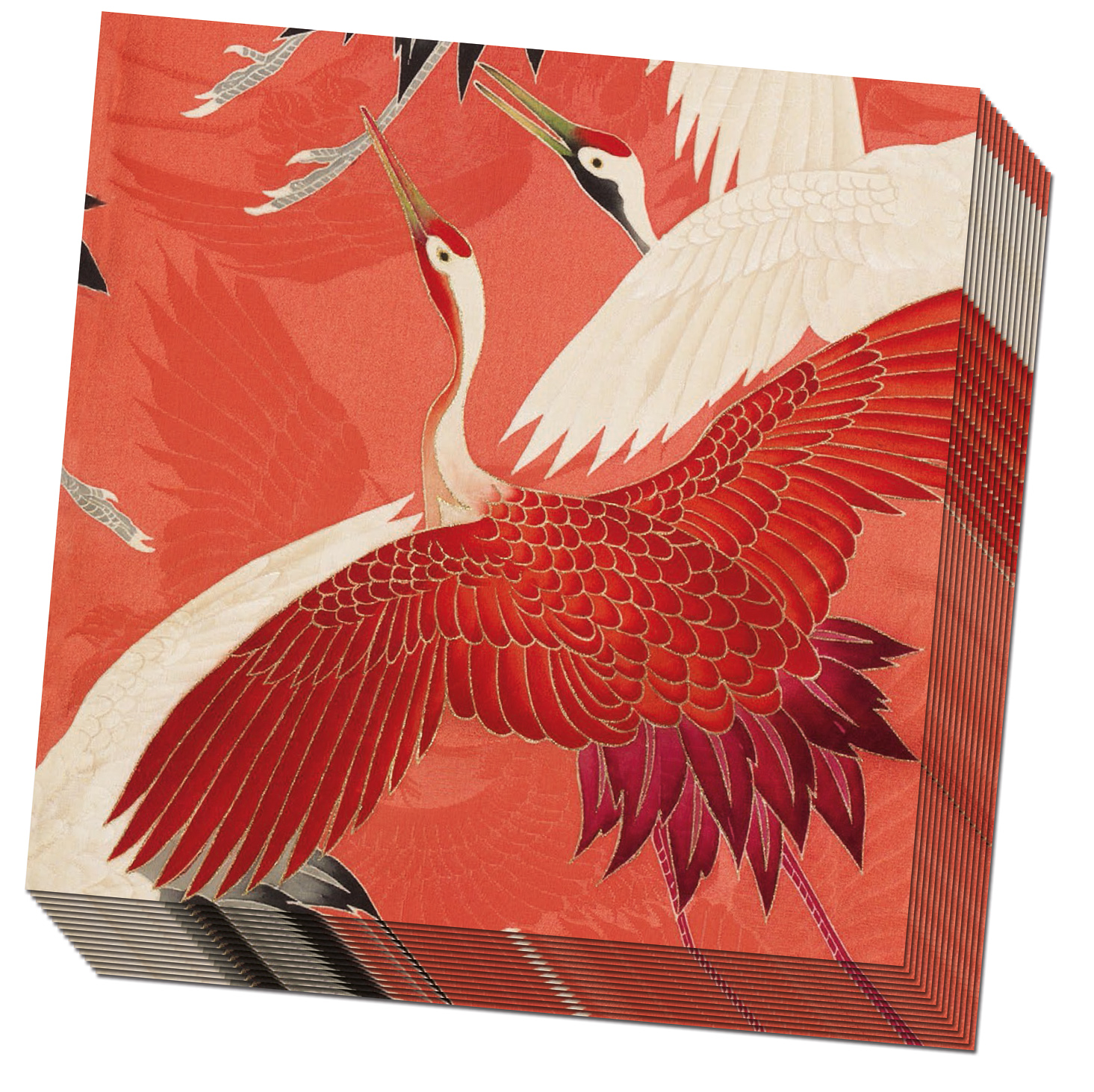 NK200 Servet Woman haori with red cranes