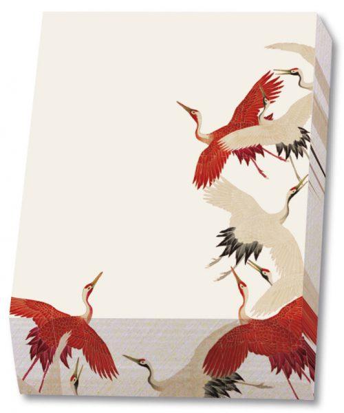 NBH200 Noteblock Kraanvogels wit-rood