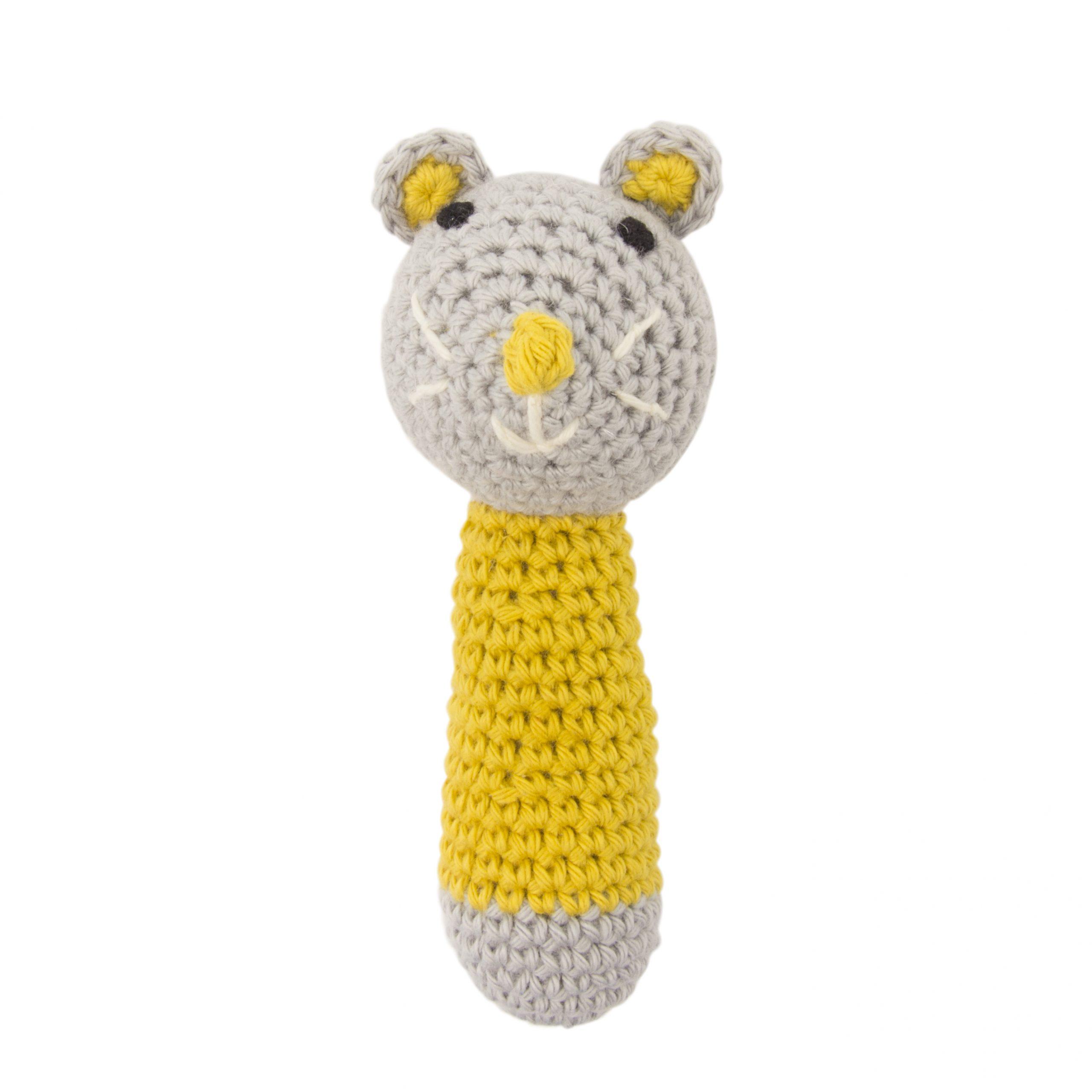 Crochet Rattle Mini Mouse Ochre