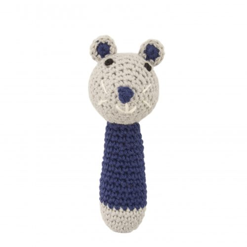 Crochet Rattle Mini Mouse Dark Blue