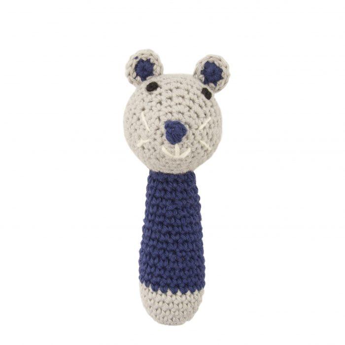 Crochet Rattle Mini Mouse Dark Blue