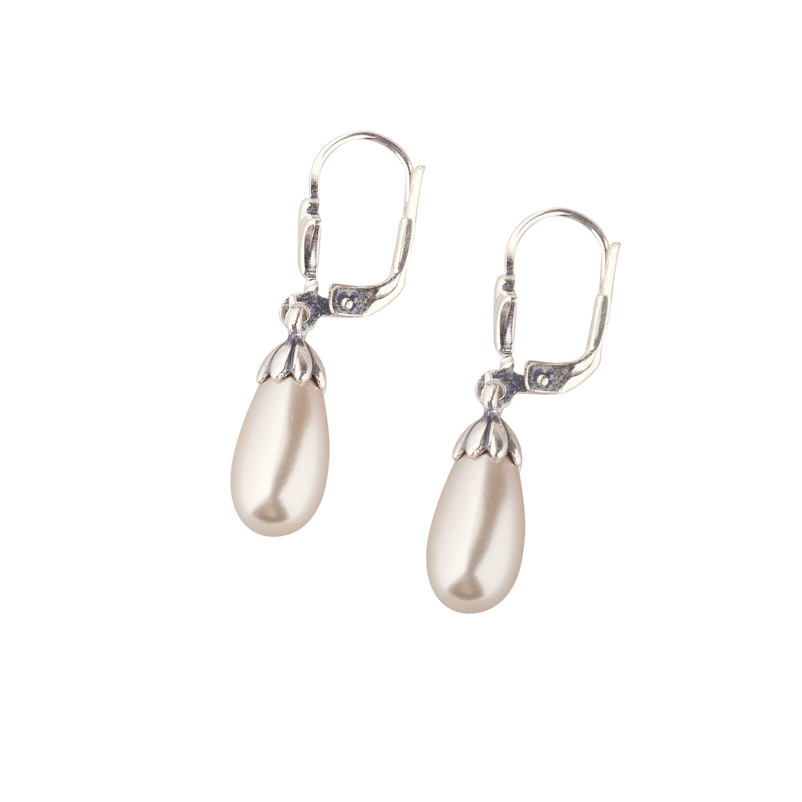 Drop earring AD Pearl 070595