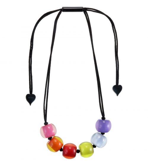 Zsiska Colorful Beads Necklace vijf kralen
