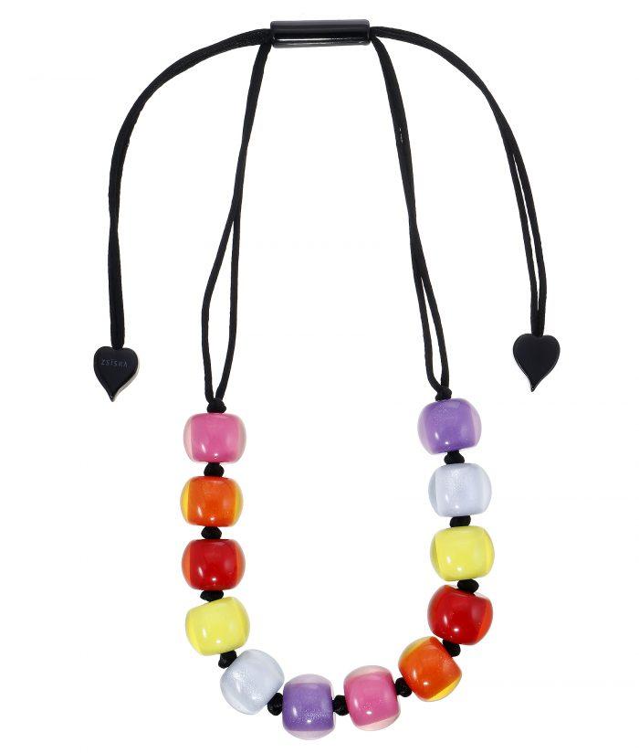 Zsiska Colorful Beads Necklace twaalf kralen