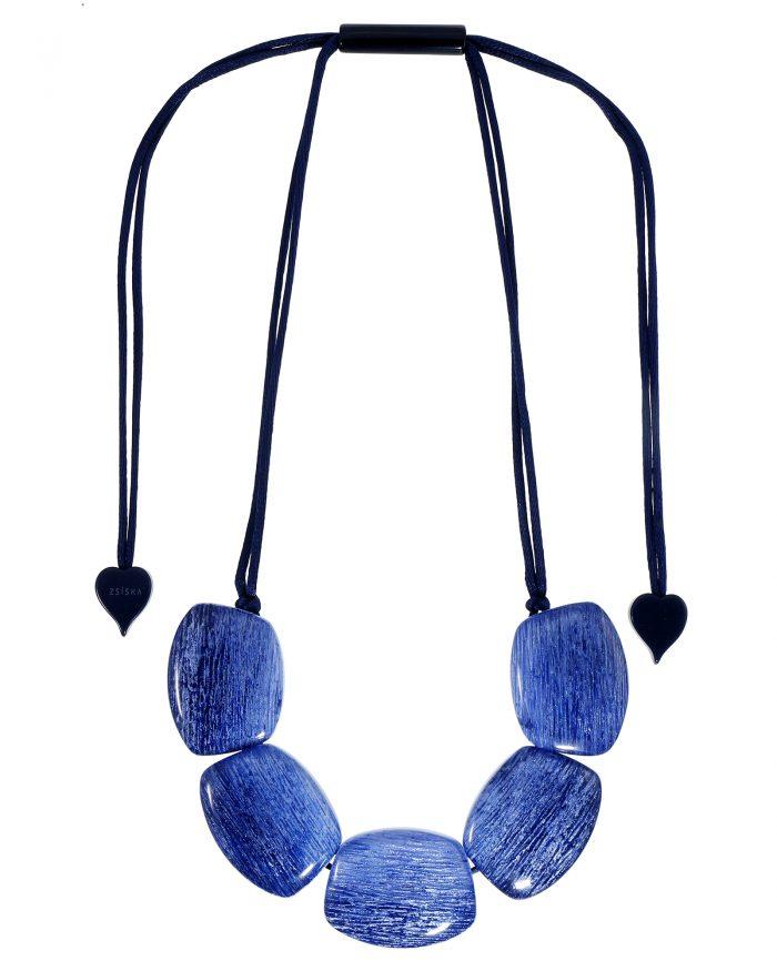 Elia collier vier stenen blauw