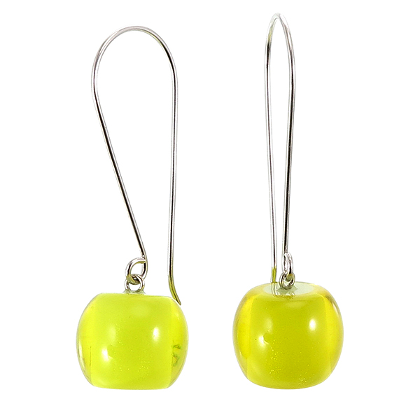 Colorful beads earring geel