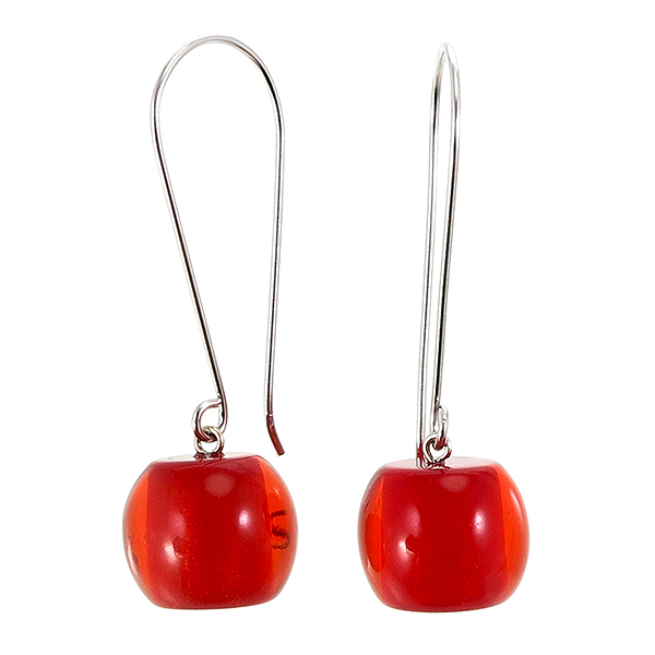 Colourful Beads Earring rood