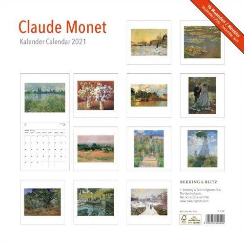 Claude Monet Maandkalender 2021