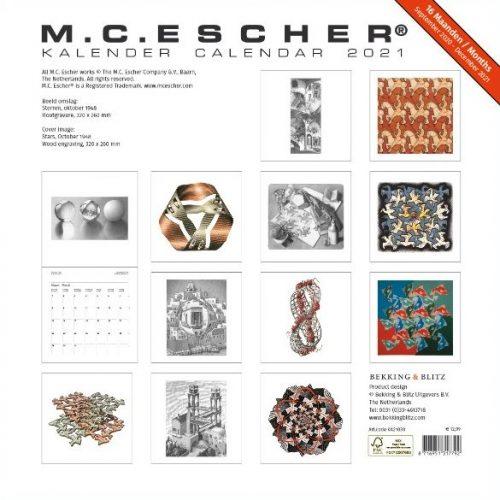 MC Escher Maandkalender 2021