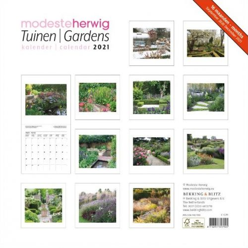 Tuinen-Gardens, Modeste Herwig, Maandkalender 2021