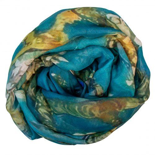Sjaal Van Gogh Bloesem 70% Linnen en 30% Katoen