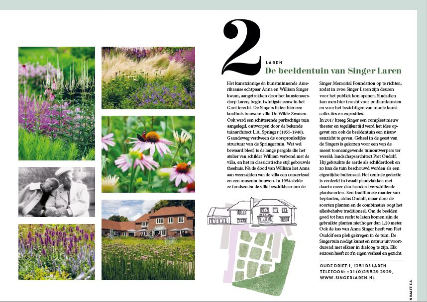 Tuinfolder, Museum Tuinen in Gooi & Vecht Gids