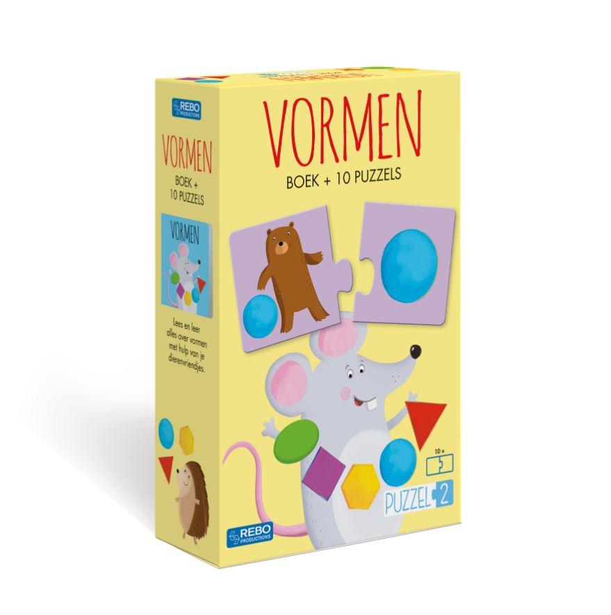 Vormen, Boek plus 10 Puzzels