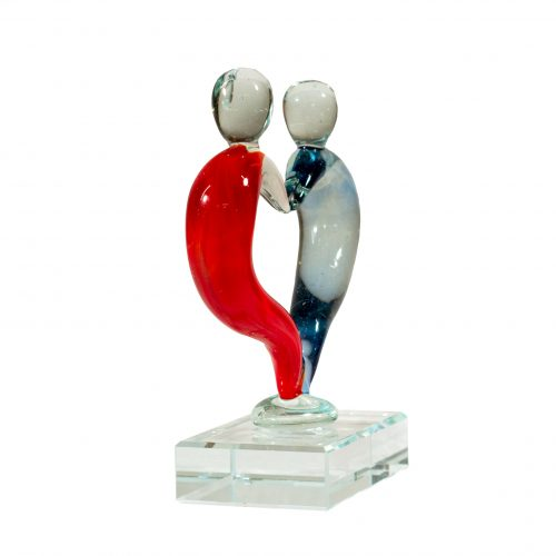 Glazen beeldje 'Love' 13 x11 cm *