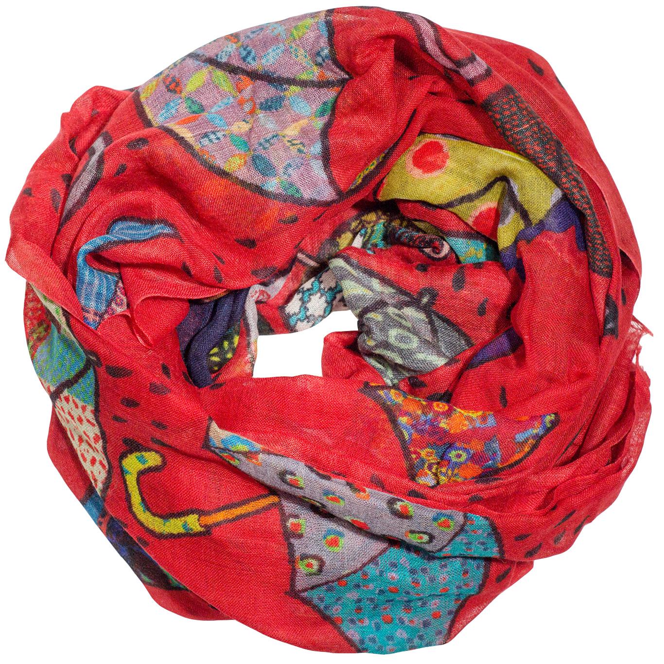 Paraplu sjaal rood