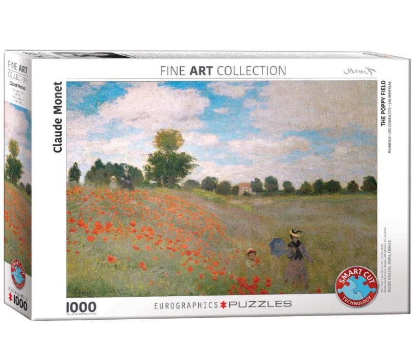 Puzzel The Poppy Field, Claude Monet