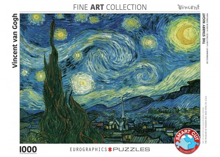 Puzzel The Starry Night, Vincent van Gogh