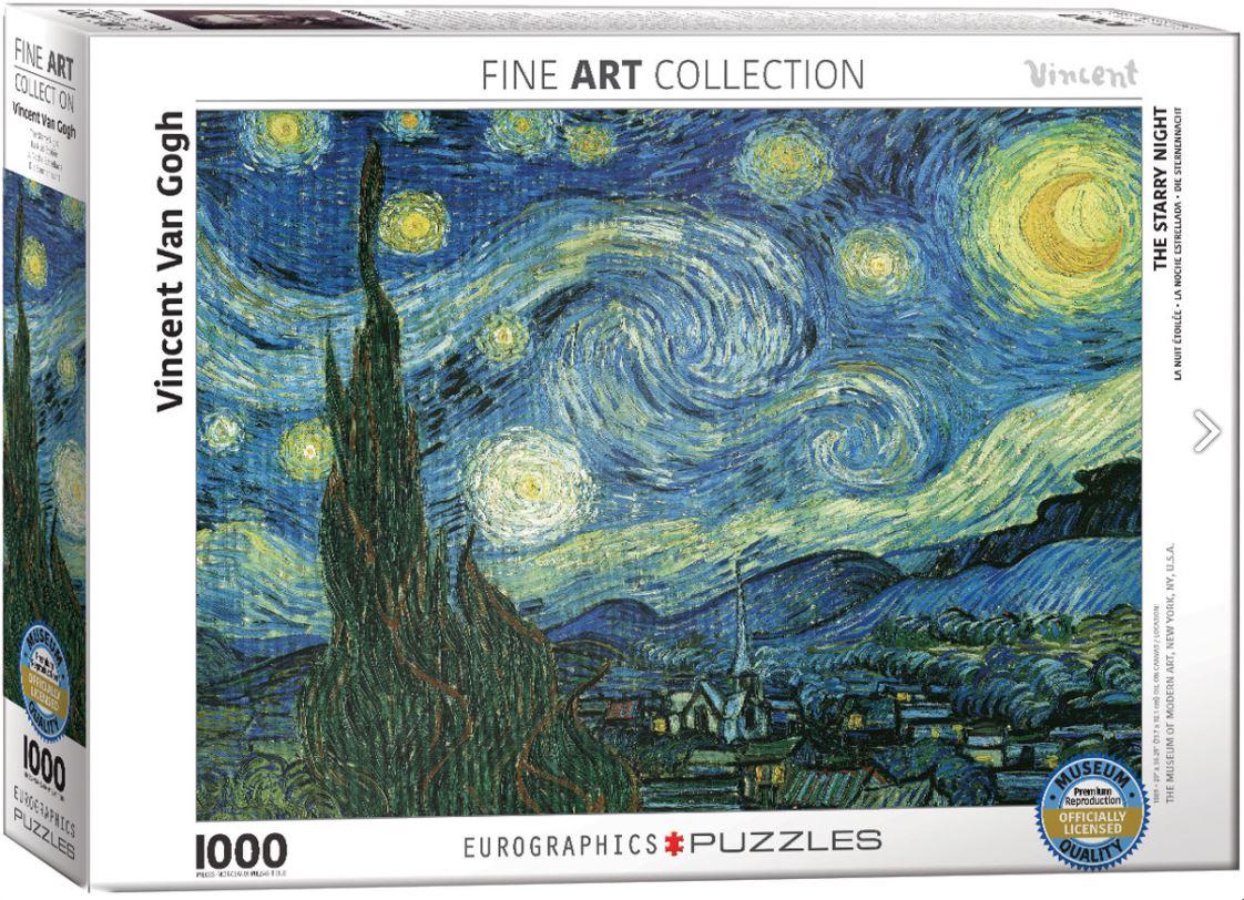 Puzzel The Starry Night, Vincent van Gogh