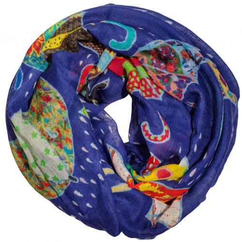 Paraplu sjaal blauw