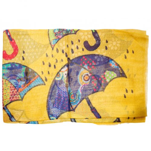 Paraplu sjaal geel