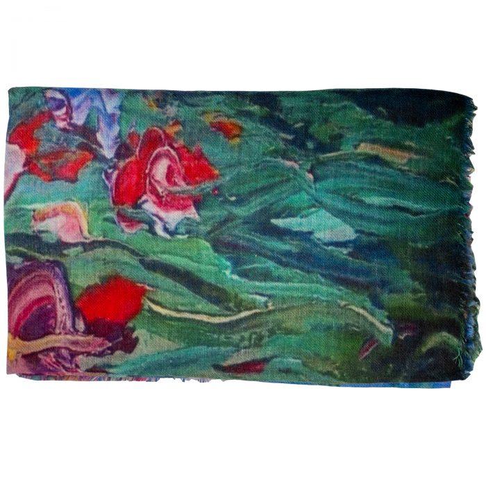 Sjaal Monet Iris, Multi Color, 100% Wool