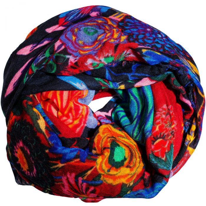 Sjaal Vase with Flower 100% Wool