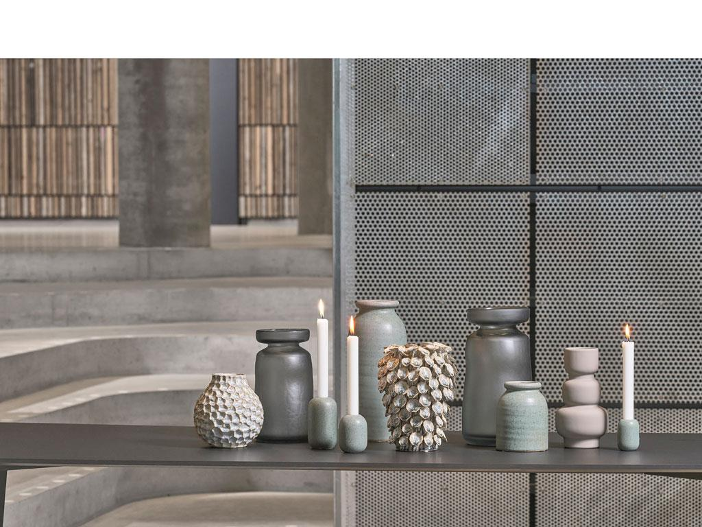 Vase Multicolor Stoneware*